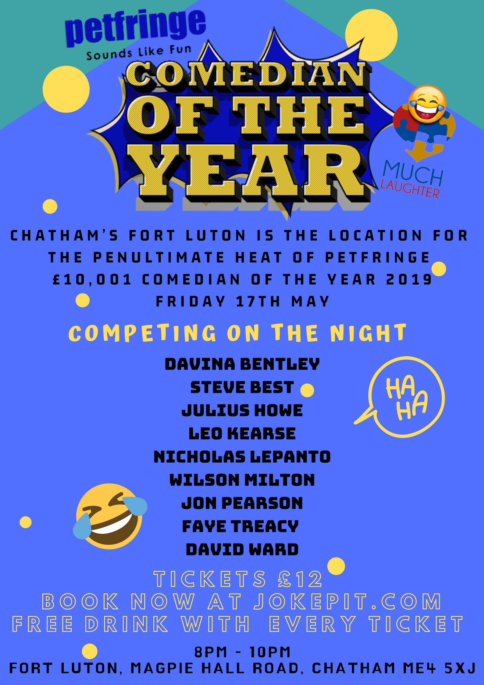 Petfringe  10 001 comedian of the year 2019 up much laughter friday 17th may