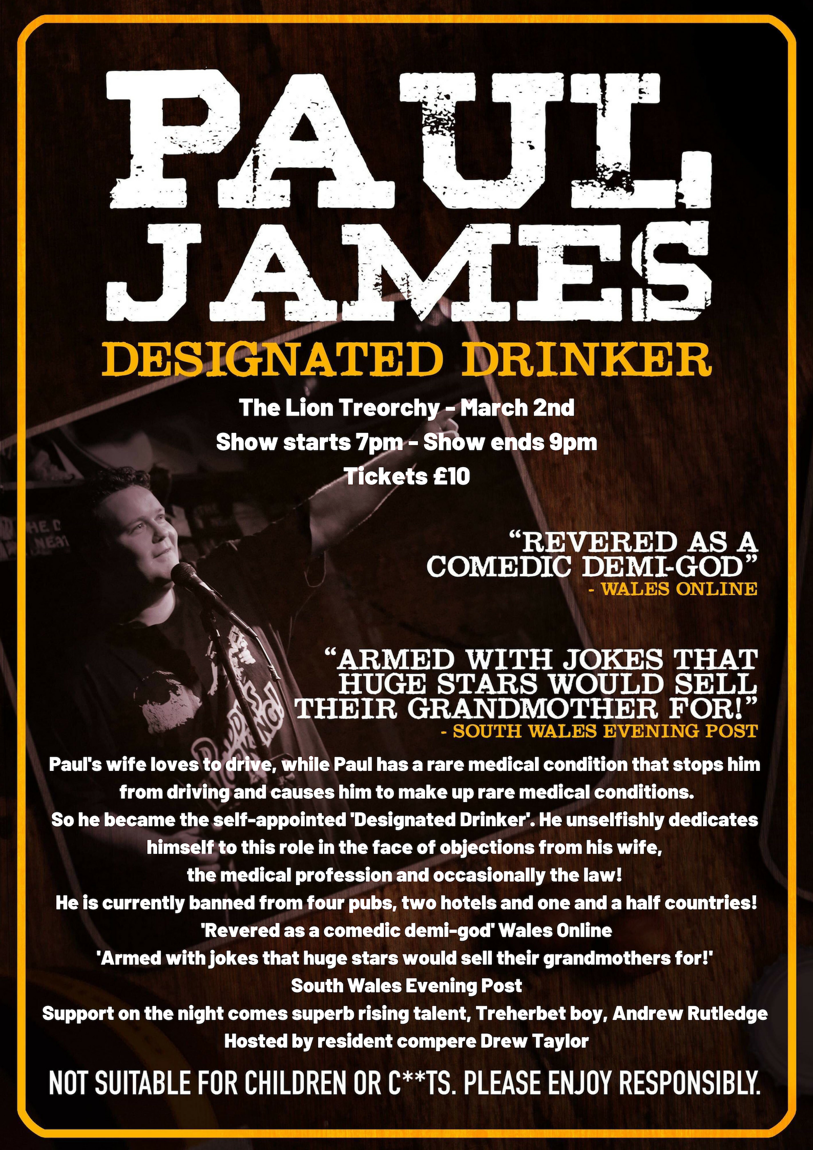 Paul james the lion pub