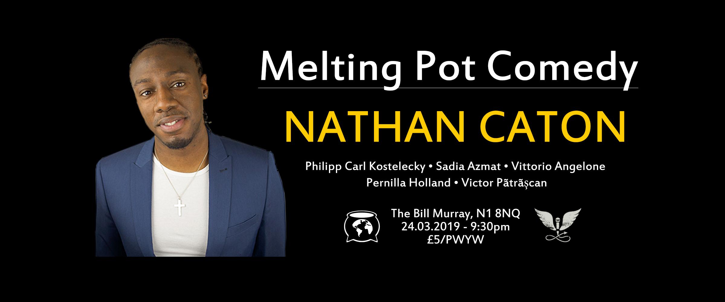 Melting pot comedy facebook cover photo