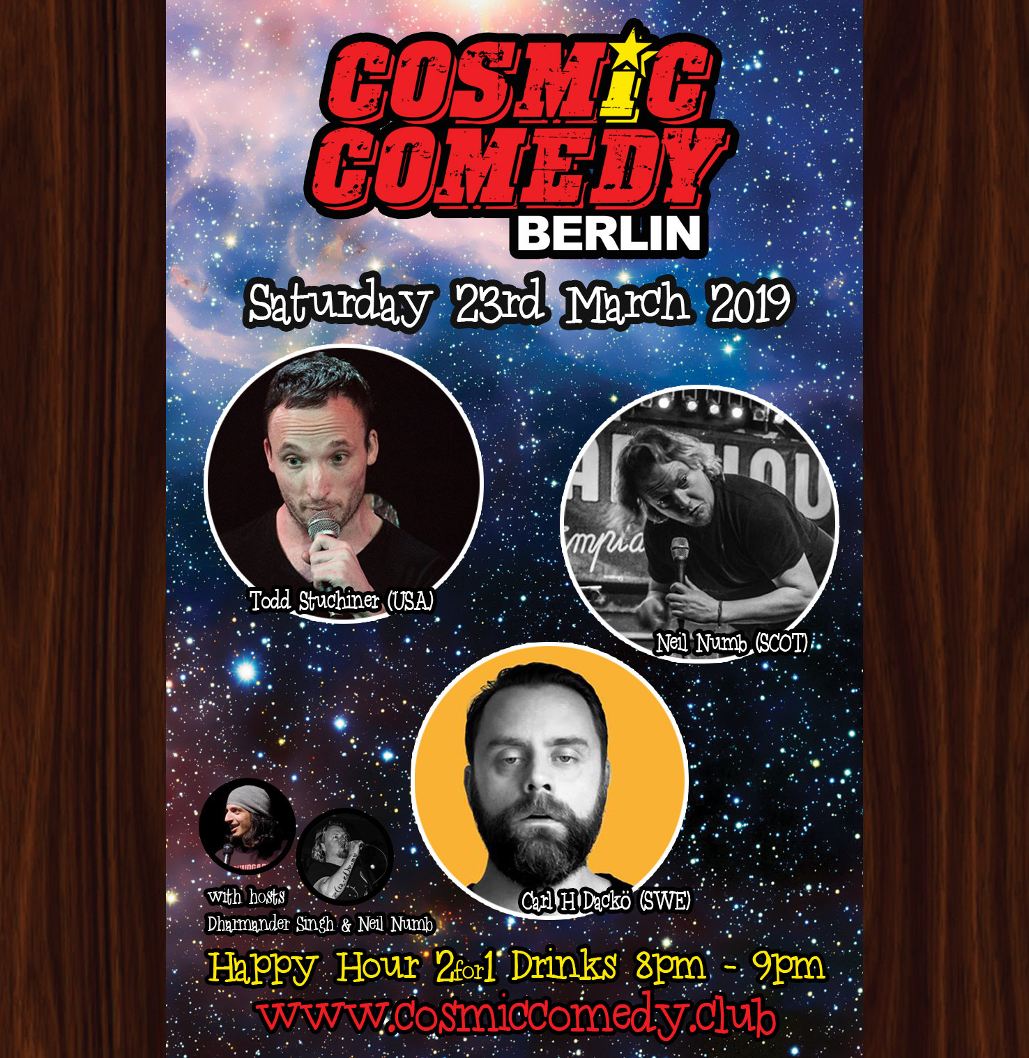 Cosmic comedy saturday 23rd march 2019