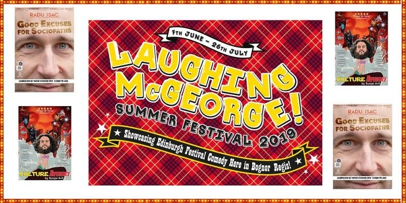 Laughing mcgeorge comedy festival   sunjai arif   radu isac   friday 7th june jokepit comedy tickets