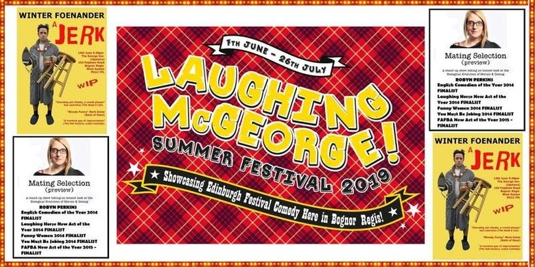Cover laughing mcgeorge comedy festival   robyn perkins   winter foenander   friday 14th june