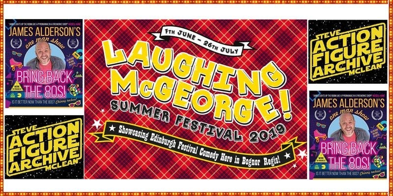 Laughing mcgeorge comedy festival   steve mcclean   james alderson   friday 19th july jokepit comedy tickets