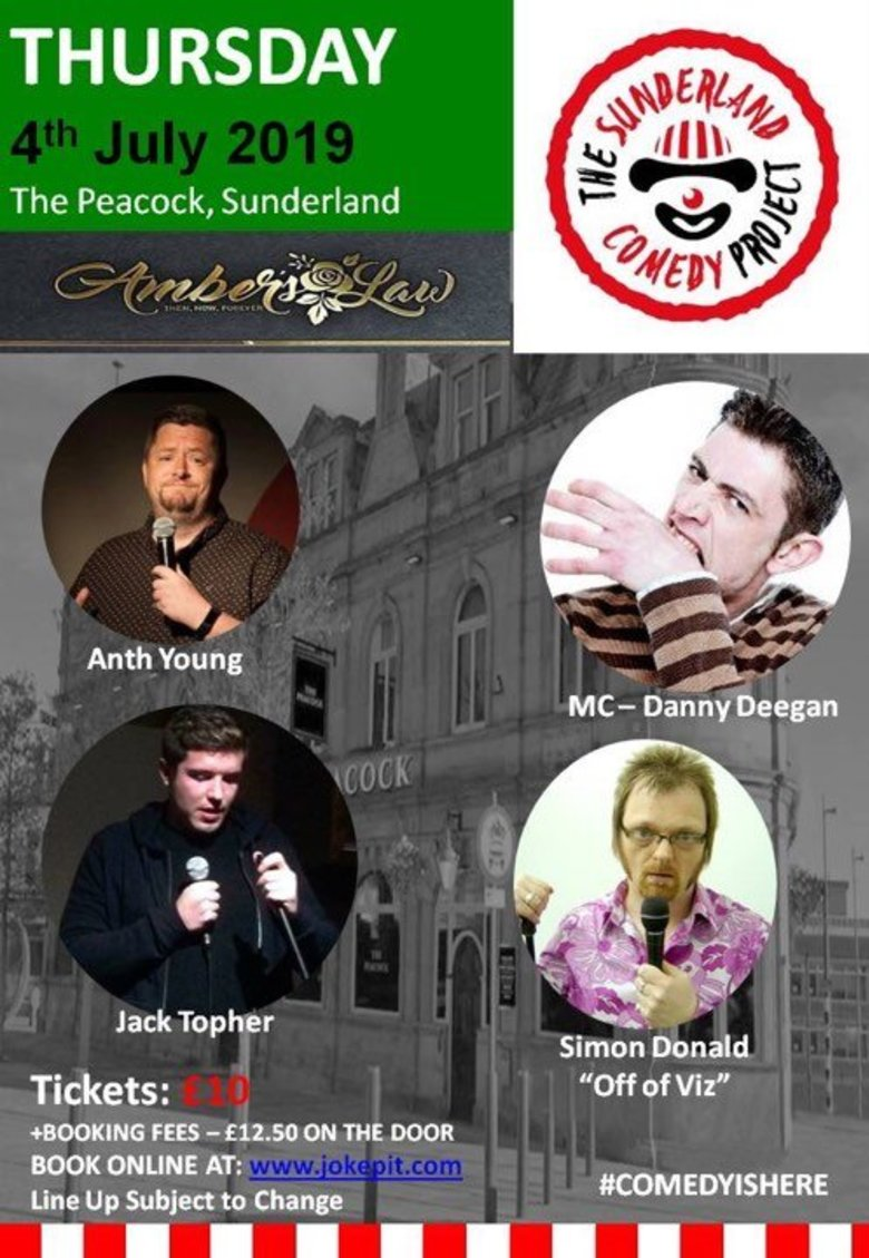 Cover the sunderland comedy project 4th july jokepit comedy tickets