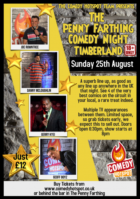 Timberland comedy night sunday  25th august jokepit comedy tickets