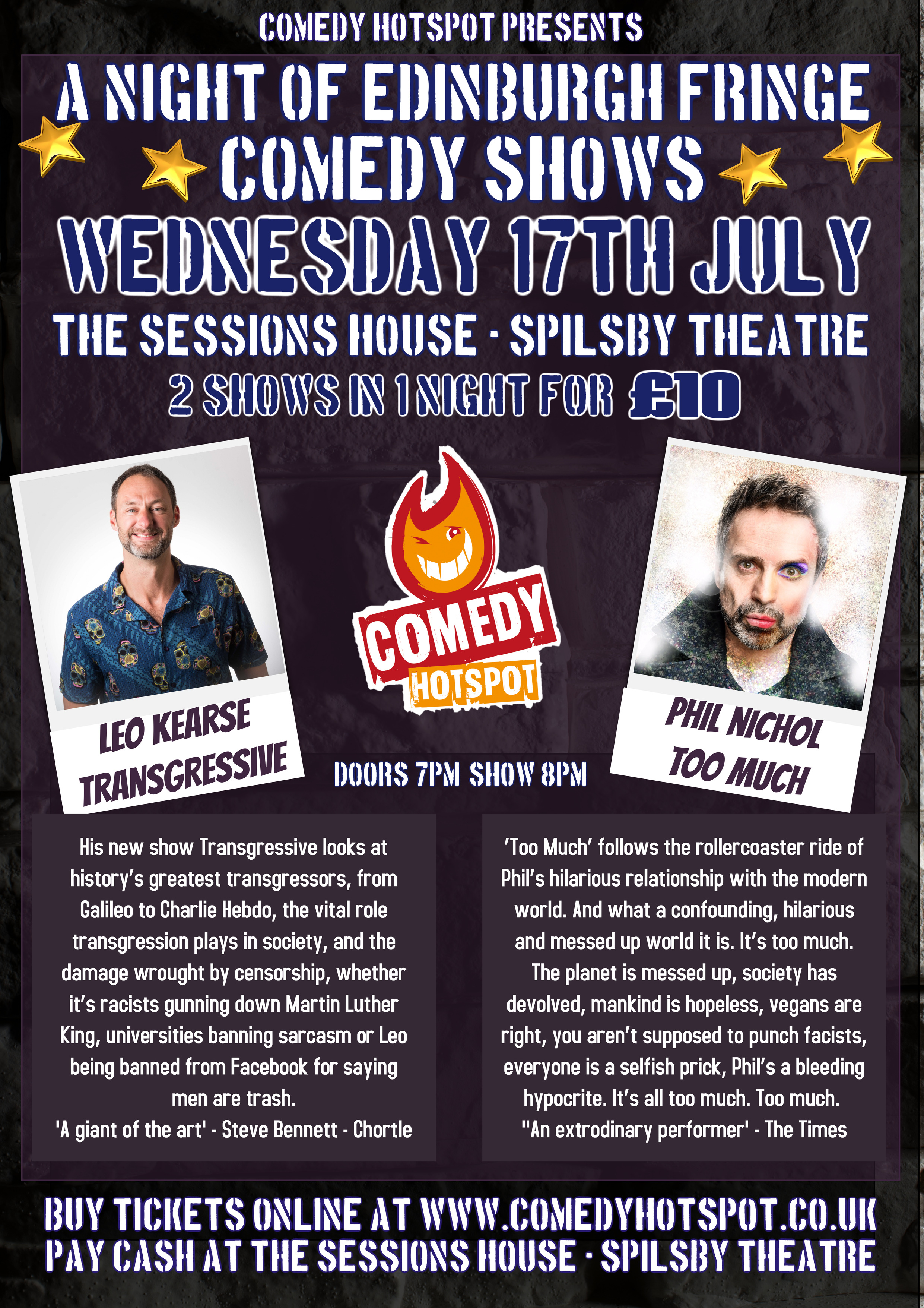 The Sessions House - Spilsby Theatre Comedy Night | JokePit