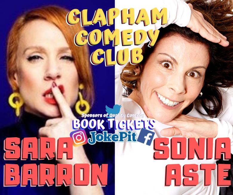 Cover sara barron sonia aste clapham comedy club