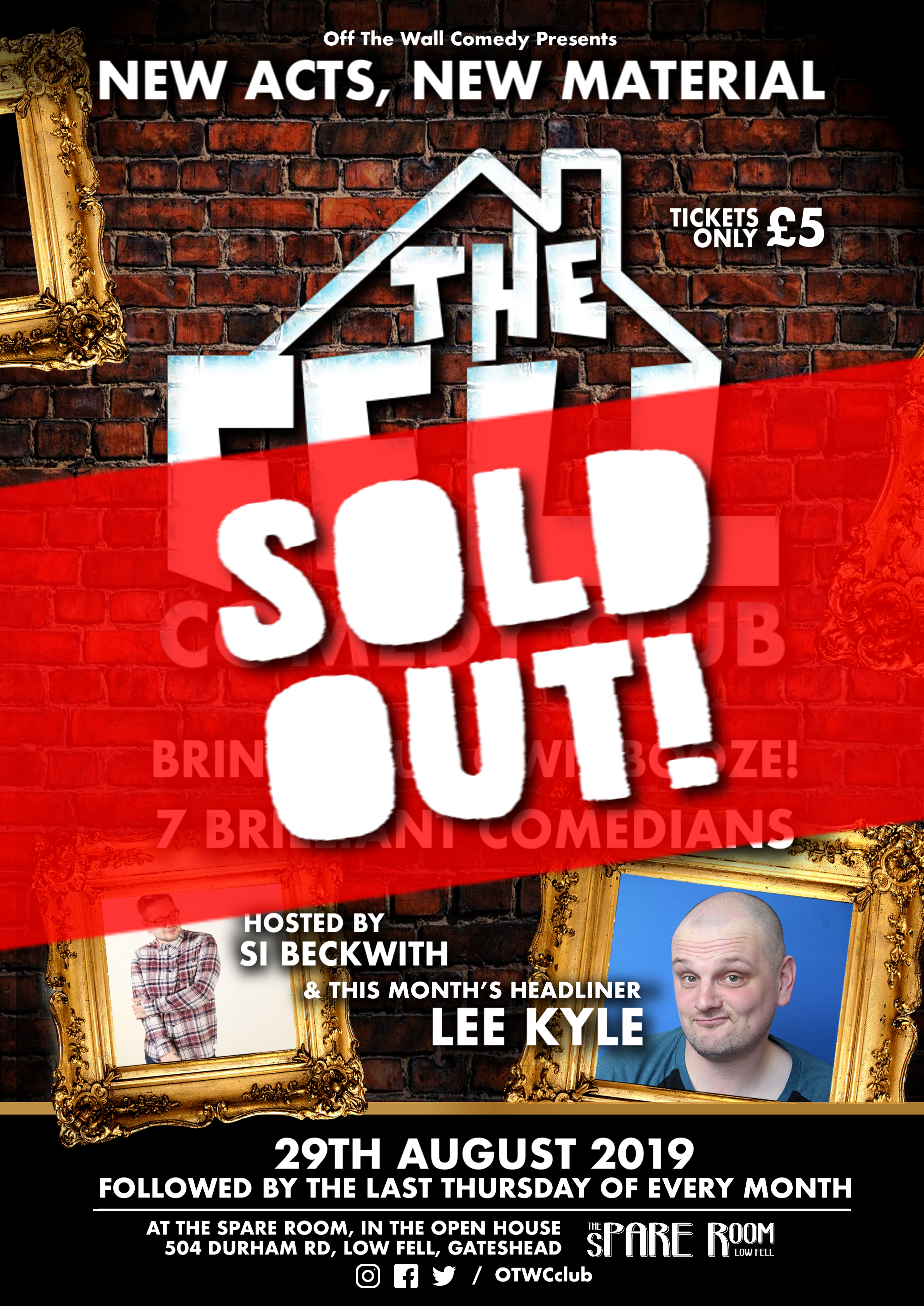 The fell comedy club poster sold