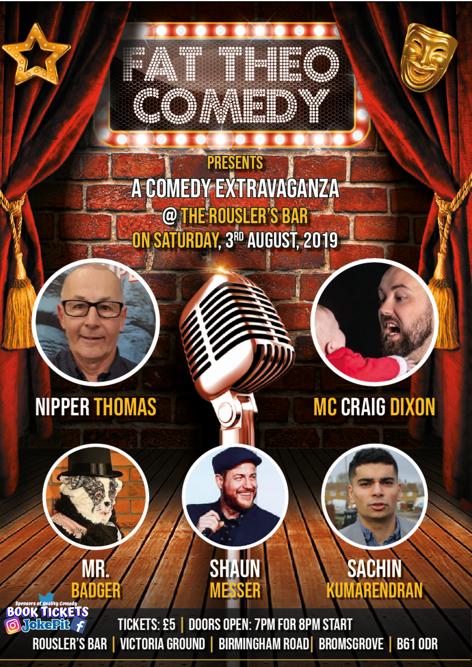 Book now fat theo comedy june 30th