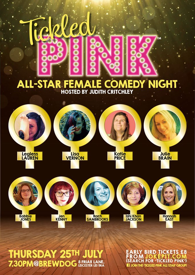 Tickled pink all star female comedy 25th july jokepit comedy tickets