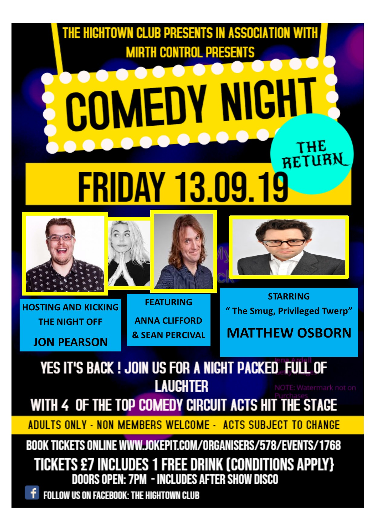 Comedy night sept 2019