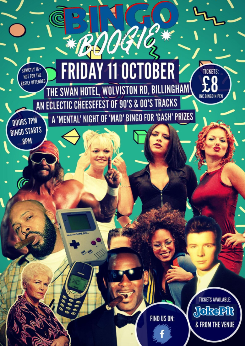 Cover bingo boogie   billingham friday 11th oct jokepit comedy tickets