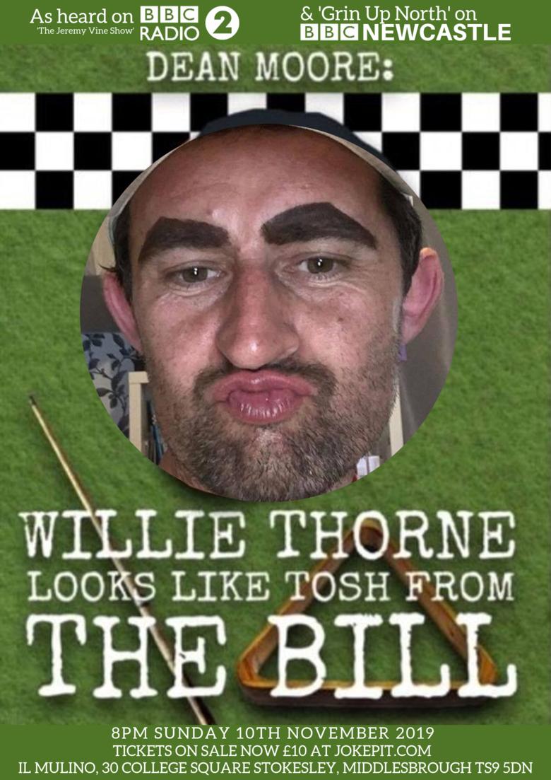 Cover willie thorne looks like dean moore 10th nov 2019