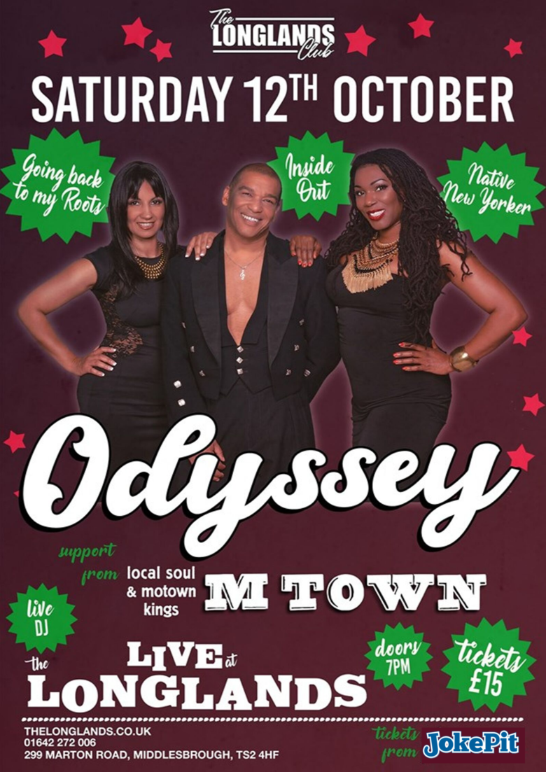 Cover 12th oct odyssey live at the longlands
