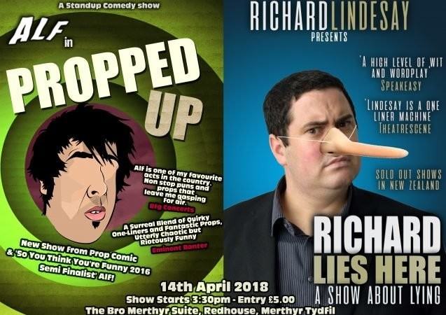 Alf   propped up   richard lies here comedy jokepit