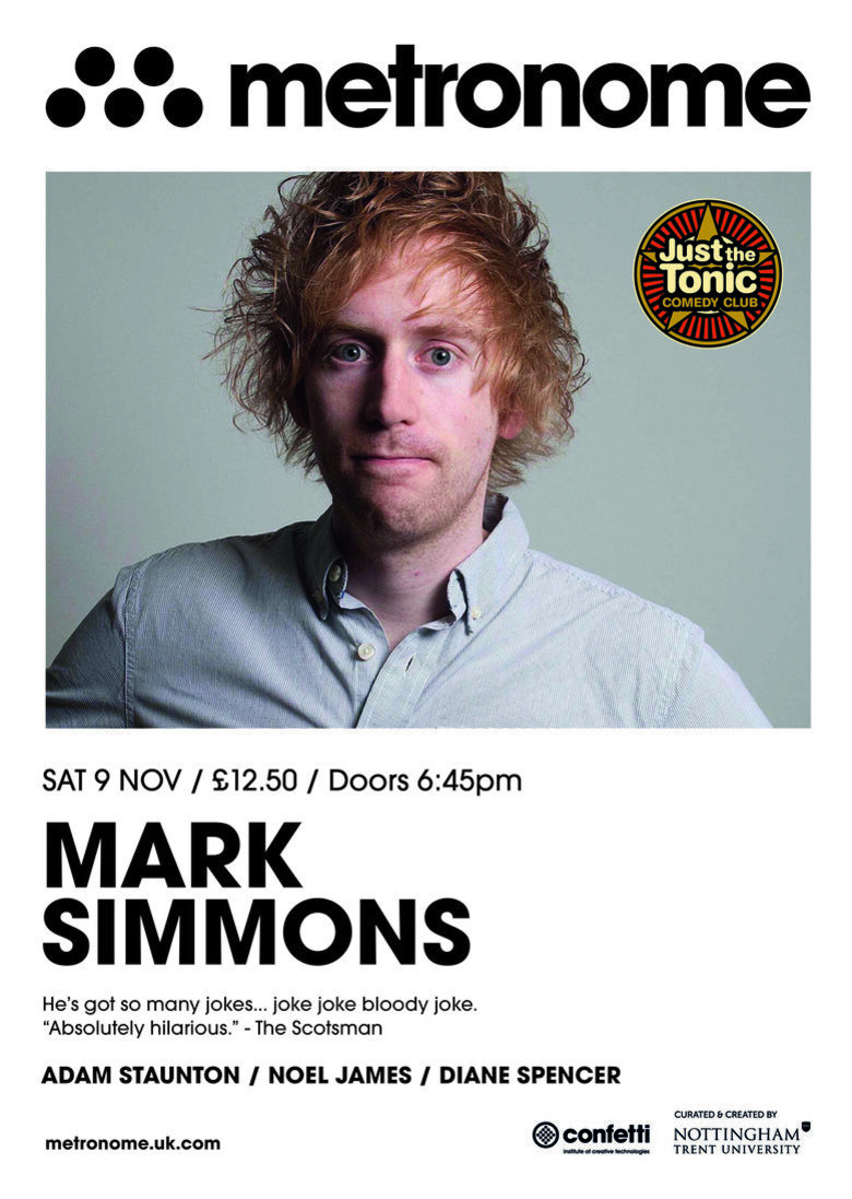 Cover just the tonic comedy club   nottingham mark simmons