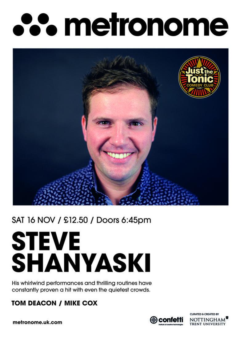 Cover just the tonic comedy club   nottingham steve shanyaski jokepit comedy tickets