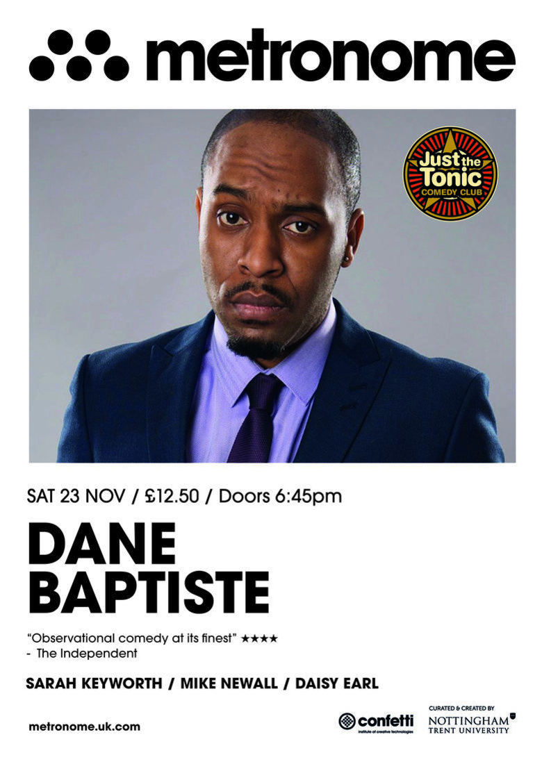 Cover just the tonic comedy club   nottingham dane baptiste jokepit comedy tickets