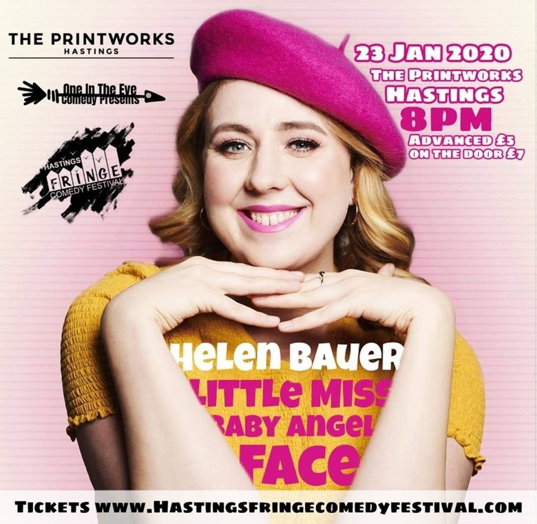 Cover helen bauer  little miss baby angel face hastings comedy fesstival jokepit comedy tickets