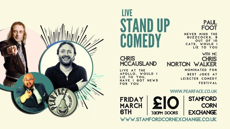 Cover live stand up comedy with headlines paul foot   chris mccausland jokepit comedy tickets