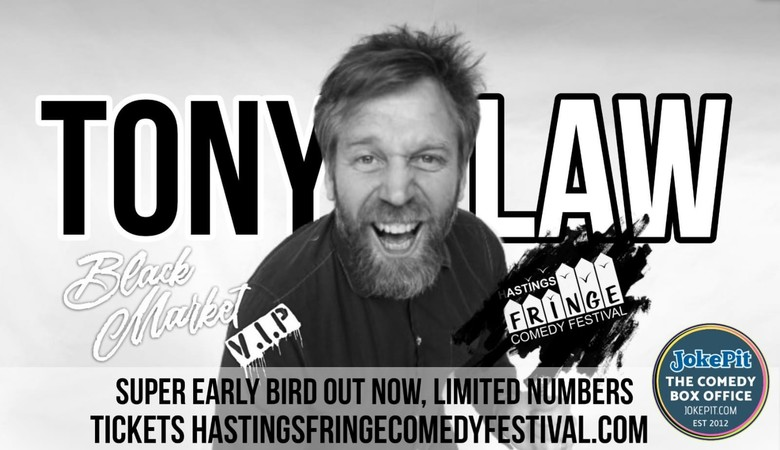 Cover tony law hastings comedy festival 2020