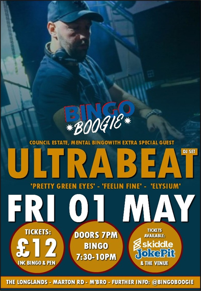 Cover bingo boogie featuring ultrabeat jokepit comedy tickets 2