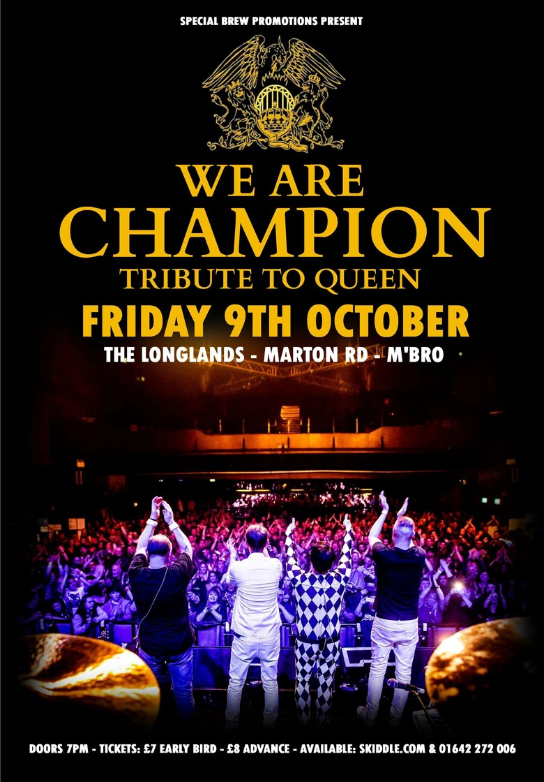 Cover we are champion tribute to queen tickets jokepit comedy tickets
