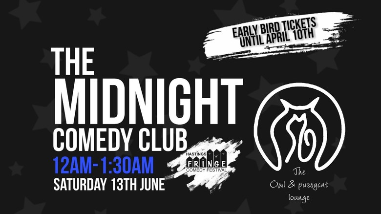 Cover saturday the midnight comedy club hastings fringe comedy festival