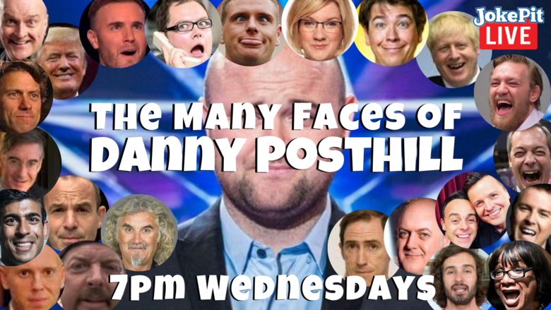 Cover the many 7pm wednesday the many faces of danny posthill