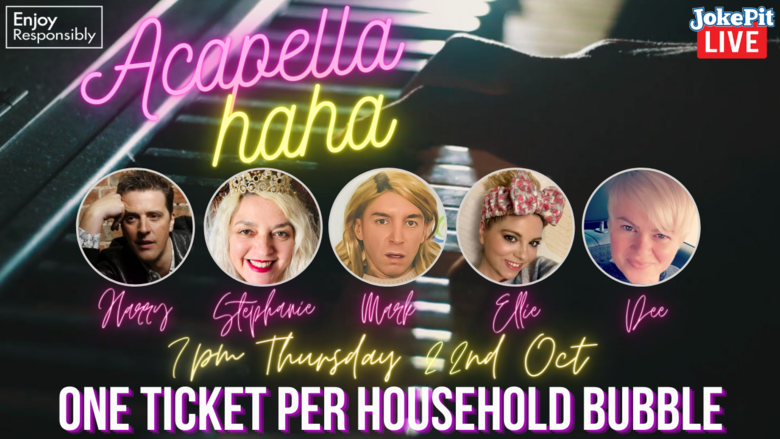Cover latest acapellahah vip tickets  5 7pm thursday 22nd oct
