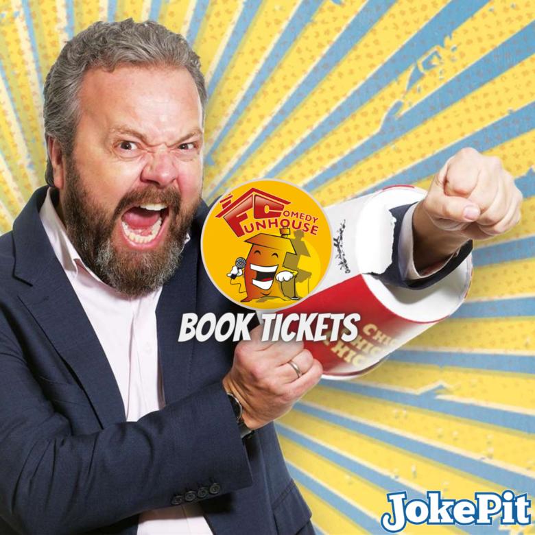 Cover funhouse comedy jokepit artwork