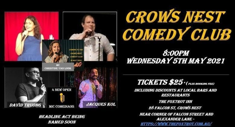 Cover crows nest comedy club wed 5th may 8pm jokepit comedy tickets