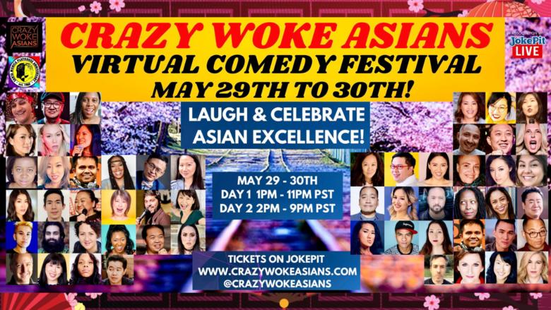 Cover crazy woke asians weekend virtual comedy festival jokepit comedy tickets