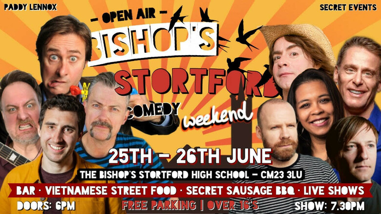 Cover bishops stortford comedy weekend 25th  26th june