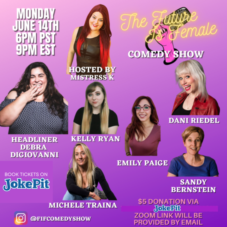 Cover the future is female comedy show tickets on jokepit