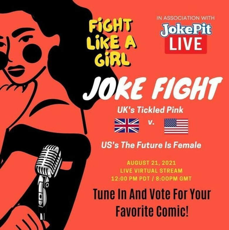 Cover tickled pink s uk vs future is female s usa jokepit comedy tickets