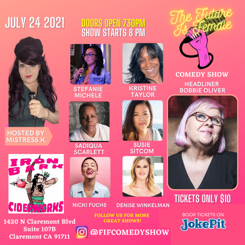 Cover the future is female comedy show july 24th