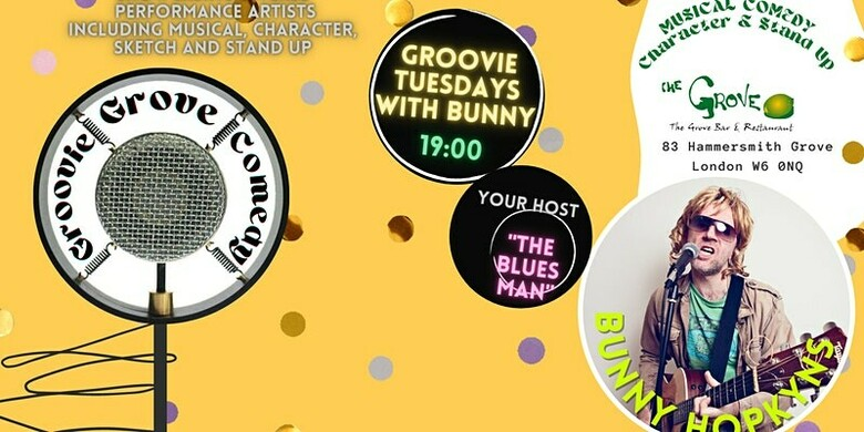 Cover groovie grove comedy   groovie tuesdays with bunny hopkyns jokepit comedy tickets