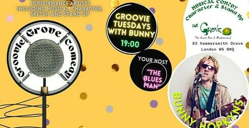 Preview groovie grove comedy   groovie tuesdays with bunny hopkyns jokepit comedy tickets