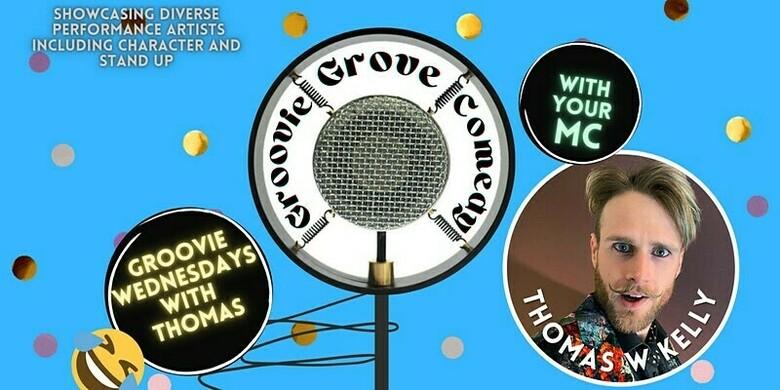 Cover groovie grove comedy   wednesday thomas w kelly jokepit comedy tickets