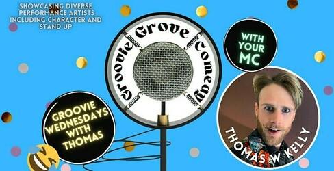 Preview groovie grove comedy   wednesday thomas w kelly jokepit comedy tickets