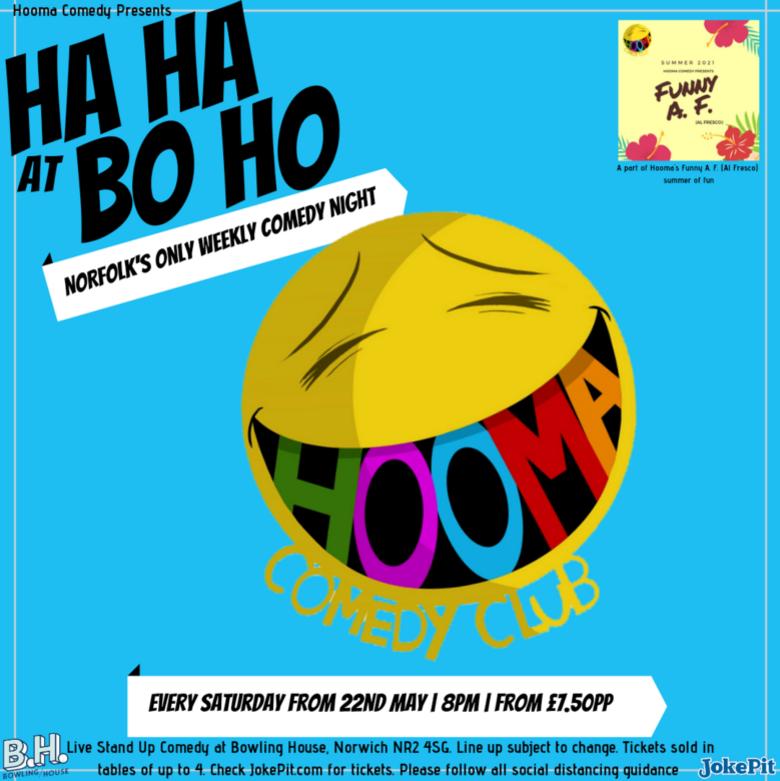 Cover ha ha at bo ho hooma comedy club jokepit comedy tickets