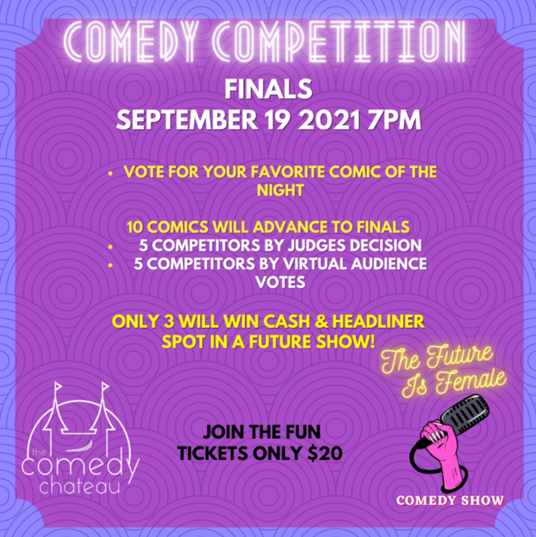Cover the future is female comedy competition jokepit comedy tickets