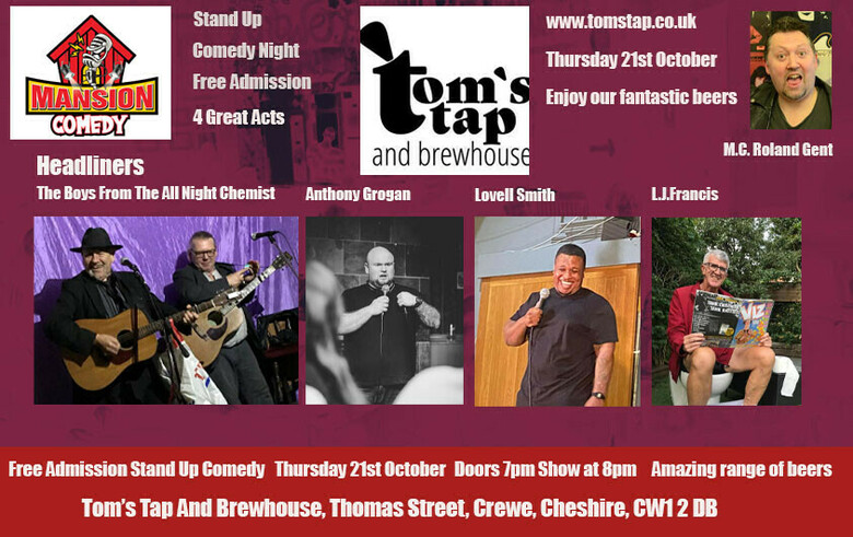 Cover october 21st crewe toms tap