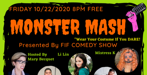 Preview monster mash comedy show future is female jokepit comedy tickets