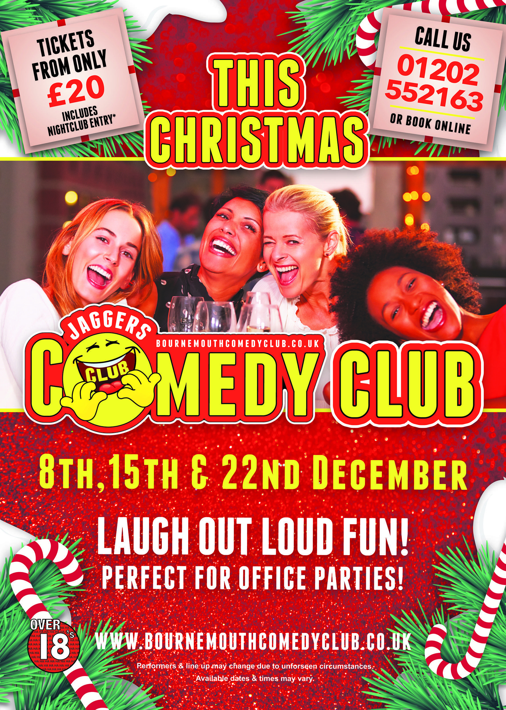 Jaggers comedy club christmas