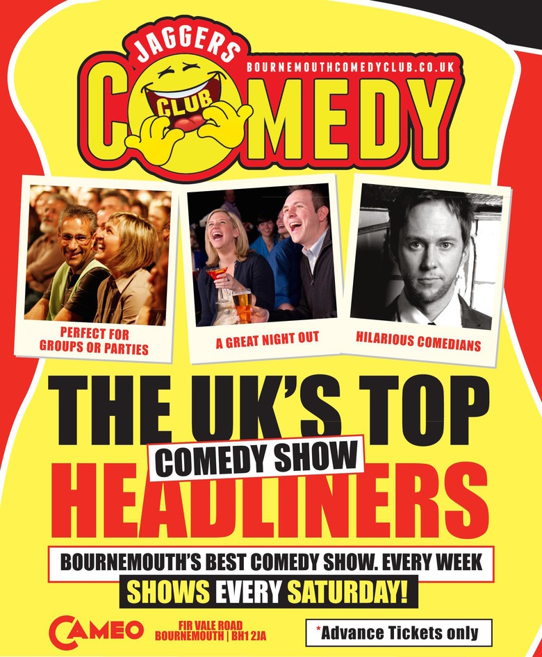 Cover jaggers comedy club bournemouth saturday jokepit comedy tickets