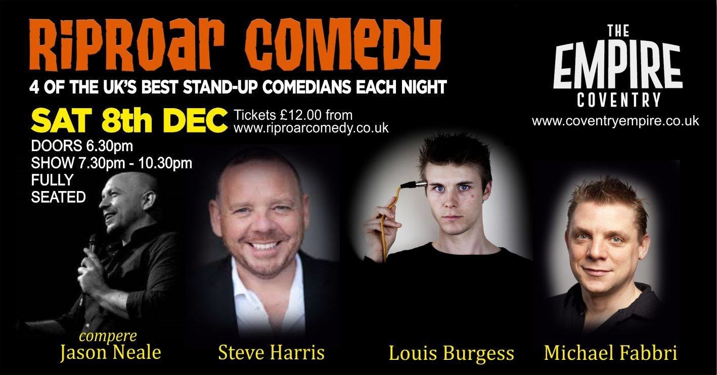 Riproar comedy club sat 8th dec jokepit comedy tickets