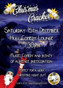 Christmas cracker sat 15th dec jokepit comedy tickets