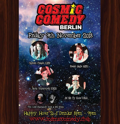 Cosmic comedy club with free pizza   shots friday 9th november 2018 jokepit